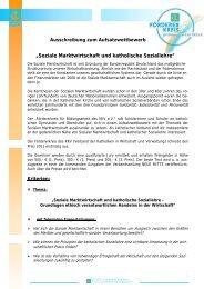 Ausschreibung Aufsatzwettbewerb - KKV Bundesverband