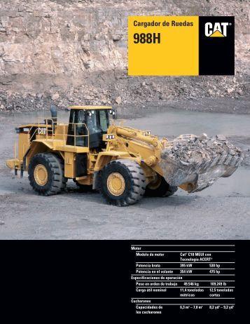 Specalog for Cargador de Ruedas 988H, ASHQ5618 - Kelly Tractor