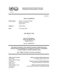 decision on prosecution motion for reconsideration of the decision ...
