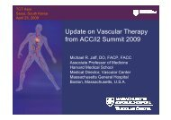Update on Vascular Therapy from ACC/i2 Summit ... - summitMD.com