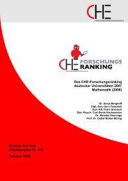 Das Che-Forschungsranking deutscher ... - CHE Ranking