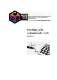 Incertezze nella valutazione dei rischi - Swiss Nano Cube
