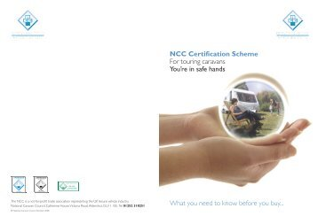 NCC Certification Scheme For touring caravans You're in safe ...