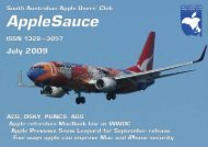 AppleSauce, July 2009 - South Australian Apple Users' Club