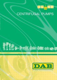 CENTRIFUGAL PUMPS - Energija plus