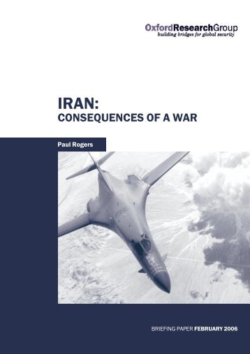 Iran: Consequences of a War - Oxford Research Group
