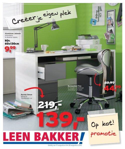 Bureau Beuken Leenbakker.Bijv 60x130cm Leenbakker