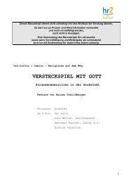 Rainer Schildberger : Versteckspiel mit Gott. Straßenexerzitien in ...
