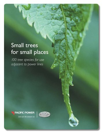 Small Trees for Small Places booklet (2MB) - Pacific Power