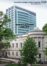 QUALITY ACCOUNT 2009-2010 - University College London ...