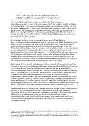 Fair Trade und Öffentliche Auftragsvergabe - Eine Welt Netz NRW