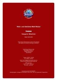 Preisliste für Kategorie: Mittelrhein - und Getränke-Welt Weiser