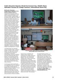 Public Education Reports: World Environment Day ... - zoos' print