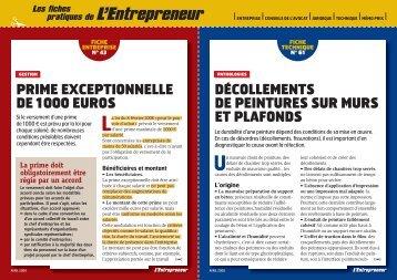 pratiques de L'Entrepreneur