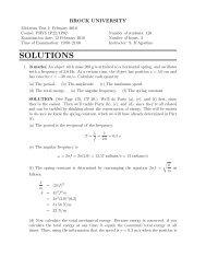2010 Midterm 1 Solutions - Physics Department @ Brock University