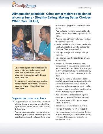 Cómo tomar mejores decisiones al comer fuera - CardioSmart