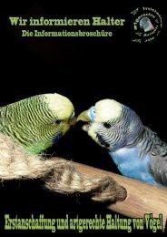 Infobroschüre Erstanschaffung vom Vogel