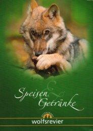 Speisekarte Wolfsrevier