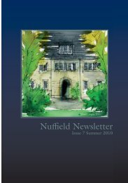 Nuffield_Summer2010-Issue7_12.indd - Nuffield College