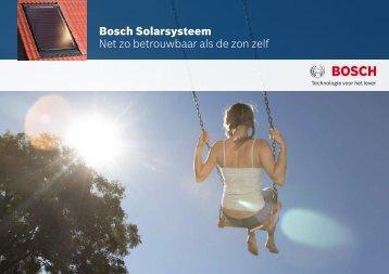 Bosch Solarsysteem Net zo betrouwbaar als de zon ... - Nestor Service