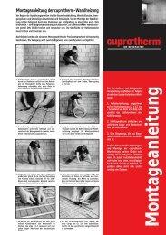 Montageanleitung Wandheizung (PDF, 98 KB) - cuprotherm