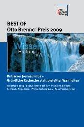 BEST OF Otto Brenner Preis 2009 - Otto Brenner Shop