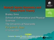 Banach Space Geometry and Fixed Point Theory - CARMA ...