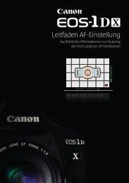 EOS-1D X Leitfaden AF-Einstellung