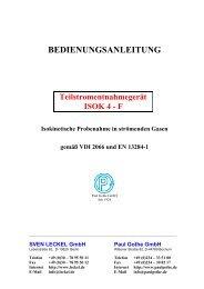 BEDIENUNGSANLEITUNG - Paul Gothe GmbH