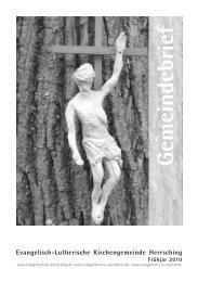 Gemeindebrief - Evangelische Kirchengemeinde Herrsching