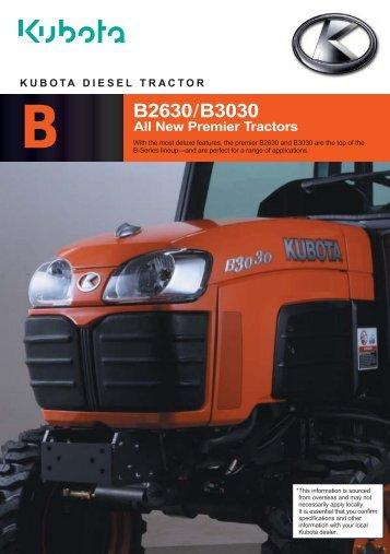 B B2630/B3030 - Kubota