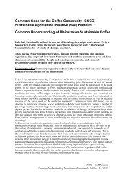 Understanding of Mainstream Sustainable Coffee - SAI Platform