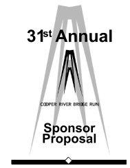 Sponsor Proposal - Cooper River Bridge Run