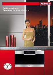 Built-in Appliances Experience the Miele difference - Euro Appliances