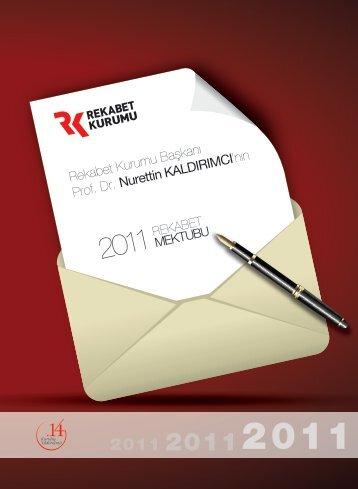 Rekabet Mektubu 2011 - Rekabet Kurumu