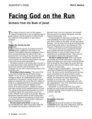 Facing God on the Run: Sermons from the Book of Jonah - LifeWay