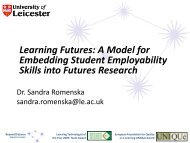 Learning Futures: A Model for Embedding Student Employability