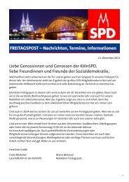 FREITAGSPOST - SPD-Unterbezirk Köln