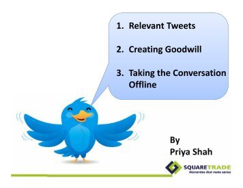 By Priya Shah 1. Relevant Tweets 2. Creating Goodwill 3 ... - PR News