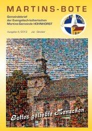 MARTINS-BOTE - Evangelische Martins-Gemeinde Hohnhorst