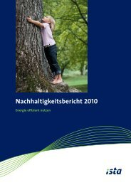 Nachhaltigkeitsbericht (PDF) - ista International