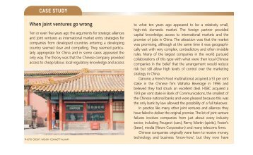 Success in China - The Celanese Joint Venture ...