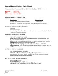 Material Safety Data Sheet - Silicone Fluid - Xerox