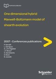 One dimensional hybrid Maxwell-Boltzmann ... - Schneider Electric
