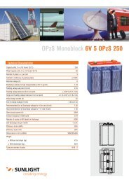OPzS Monoblock 6V 5 OPzS 250 - Systems Sunlight S.A.