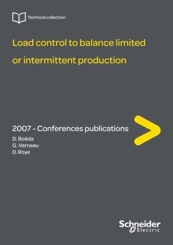 Load control to balance limited or intermittent ... - Schneider Electric