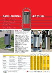 Abfallbehälter und Ascher - Rasti.EU