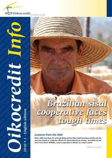 Brazilian sisal cooperative faces tough times - Oikocredit