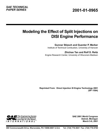Modeling the Effect of Split Injections on DISI Engine Performance