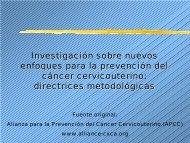 Investigación sobre nuevos enfoques para la prevención del cáncer ...